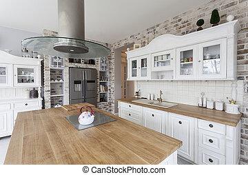 toscane, cuisine, -, étagères