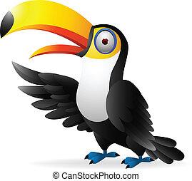 toucan, oiseau, onduler