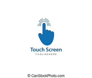 toucher, logo, technologie, numérique