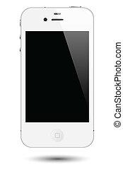 toucher, smartphone, vecteur, écran