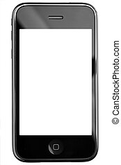 toucher, téléphone, écran, moderne