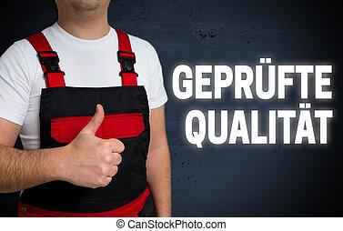 touchscreen, allemand, montré, quality), certifié, artisan, qualitaet, gepruefte, (in