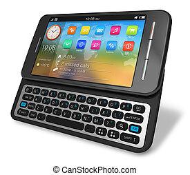 touchscreen, côté, glisseur, smartphone