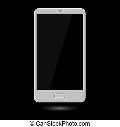 touchscreen, gris, smartphone