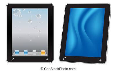 touchscreen, informatique, tablette