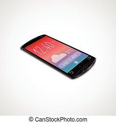 touchscreen, isolé, smartphone