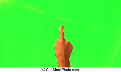 touchscreen, mâle, -, main, gestes