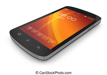 touchscreen, moderne, smartphone.