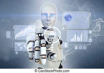 touchscreen, robot, fonctionnement