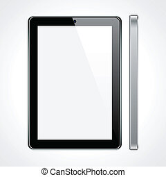 touchscreen, tablette, concept.