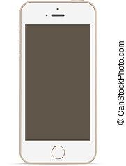 touchscreen, technology., mobile, mockup, téléphone, conception, template.