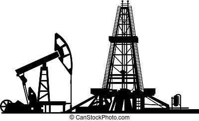 tour forage pétrole, forage