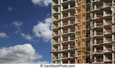 tour, grue construction