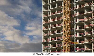 tour, grue construction, site