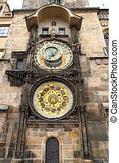 tour, prague, horloge