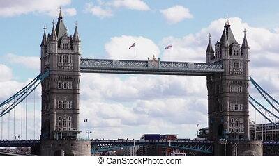 tour, projectile milieu, pont
