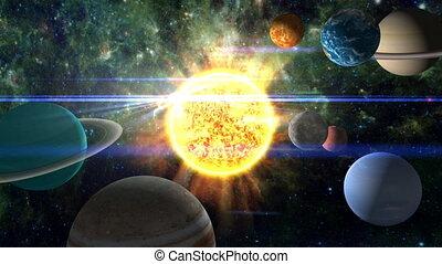 tour, système, solaire