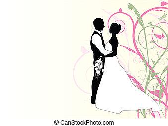 tourbillon, couple, mariage