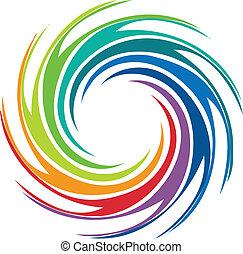 tourbillon, logo, résumé, image, coloré