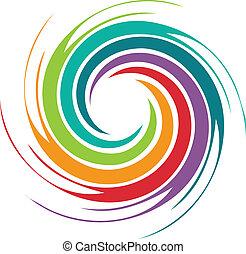 tourbillon, résumé, image, coloré