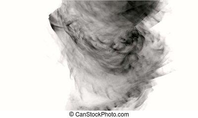 tourbillon, tornado., fumée