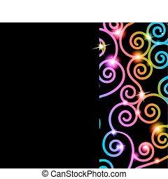 tourbillons, coloré, carte