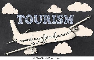 tourisme, tableau noir