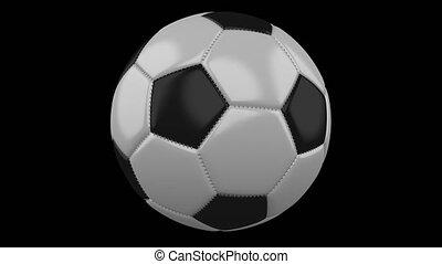 tourne, balle, métrage, fond, 4k, alpha, football, transparent