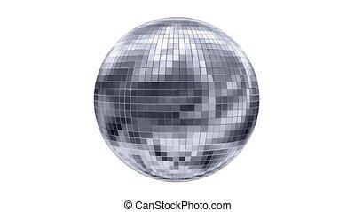 tourner, animation, balle, disco
