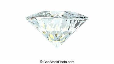 tourner, blanc, diamant, boucle