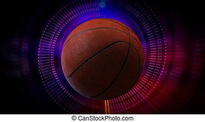 tourner, boule basket-ball