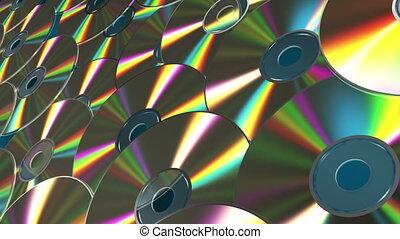 tourner, cd-dvd, disques, fond