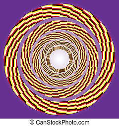 tourner, excentrique, circle.
