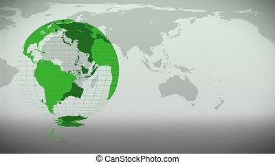 tourner, itself, la terre, vert