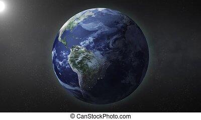 tourner, la terre, mode, boucle