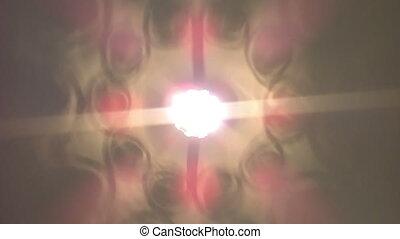 tourner, lumières, spectre