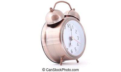 tourner, reveil, sonner, classique, horloge