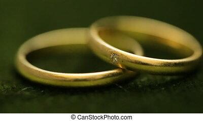 tourner, textured, anneaux, fond, mariage