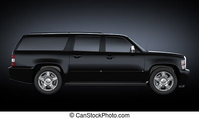 tourner, voiture, black., noir