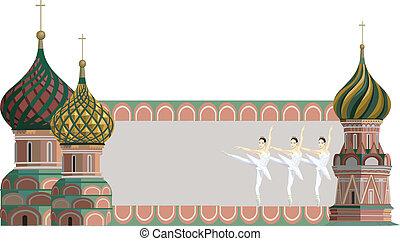 tours, ballerines, kremlin