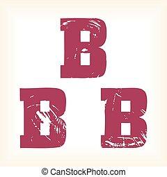 tout, art, ils, individually., déplacé, police, dalle, couches, différent, alphabet, format., -, te, type, edited, grunge, séparé, empattement, lettre, graphiques, être, facilement, b, eps, vecteur, ainsi, boîte, ou