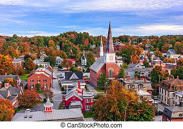 townscape, montpelier, vermont