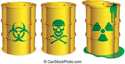 toxique, barrels.