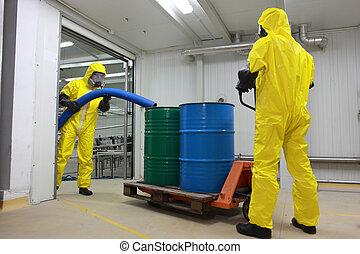 toxique, ouvriers, gaspillage, fonctionnement