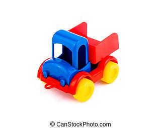 toy-car, coloré, fond blanc