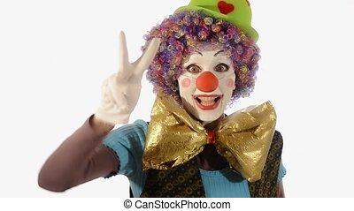 très, nouveau, heureux, clown, année