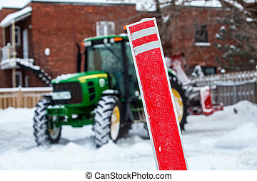 tracteur, snowblower, clearing