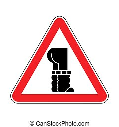 traction, fermé, pants., signe., attention, jean, bas, avertissement, prudence, route, rouges