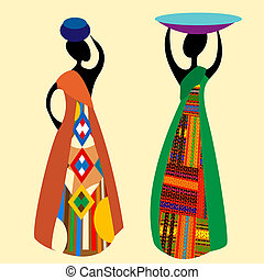 traditionnel, africaine