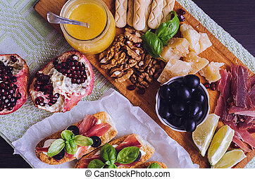 traditionnel, antipasto, italien